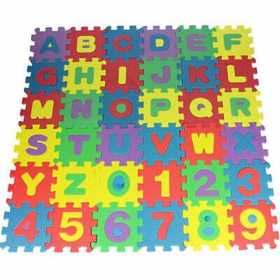 36 Pcs Baby Kids Alphanumeric Educational Puzzle Blocks