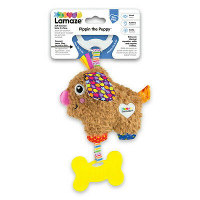 LC Lamaze Mini On-The-Go Pippin The Puppy Rattle