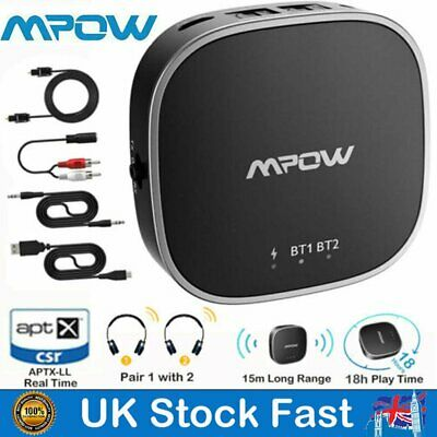 Mpow 2 IN 1 Transmitter Receiver Bluetooth 5.0 Stereo Audio