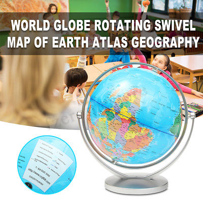 360° Rotating 25cm World Globe Map With Swivel Base