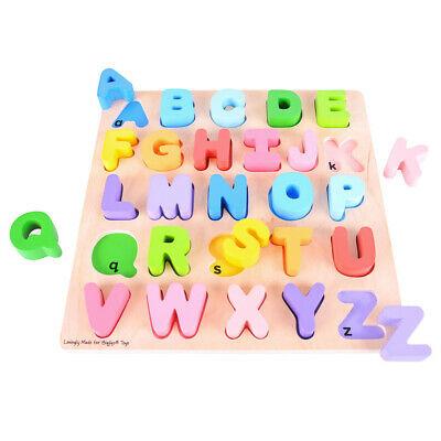 Bigjigs Toys Chunky Wooden Alphabet Puzzle Educational
