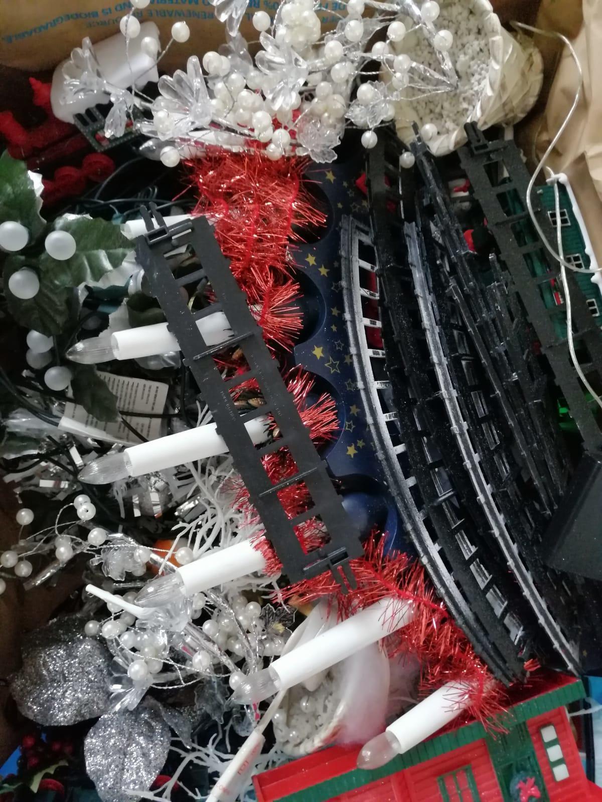 Box of Christmas Assortment Decorations