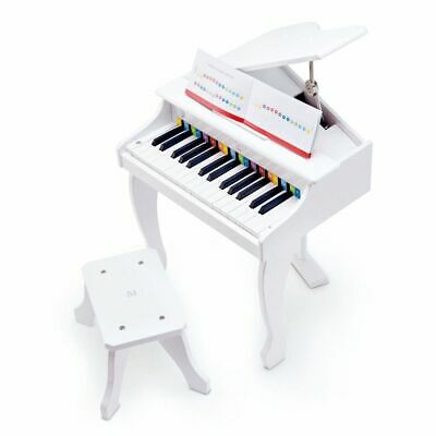 Hape Deluxe Grand Piano White Kids Children Musical Toy