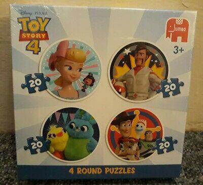 Jumbo Disney 4 in a box Jigsaw Toy Story 4, 20 Piece Round