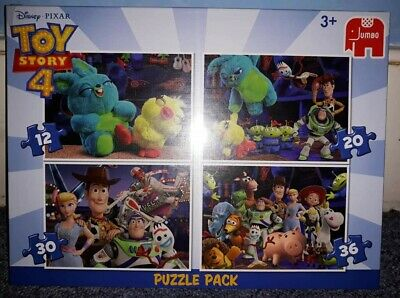 Jumbo Toy Story 4 Disney 4 puzzle pack Age 3+, unwanted