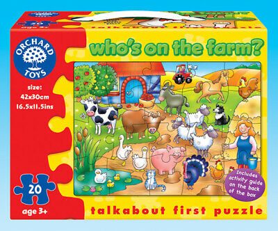 Orchard Toys 217 Who's on the Farm? Kids Childrens Talkabout