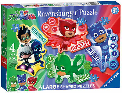 Ravensburger PJ Masks Four Large Shaped Jigsaw Puzzle