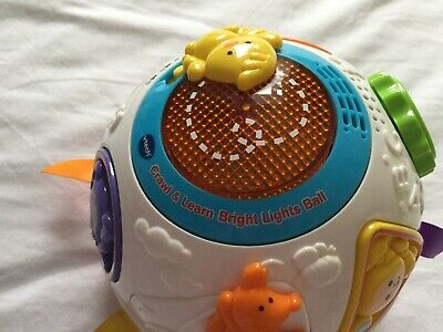 Vtech Crawl And Learn Bright Lights Ball Baby Toy -white &