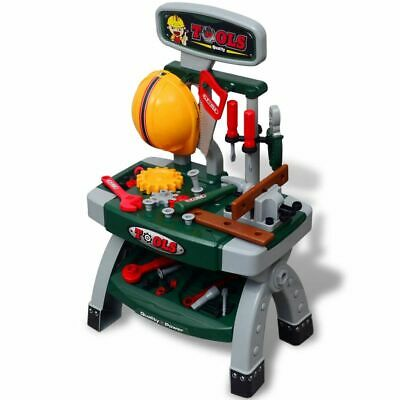 vidaXL Kids Children Playroom Toy Workbench with Tools Green