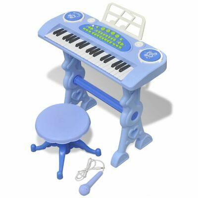 vidaXL Kids Playroom Toy Keyboard with Stool/Micropho ne