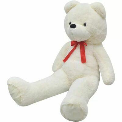 vidaXL Teddy Bear Cuddly Toy Plush White 200cm Soft Stuffed