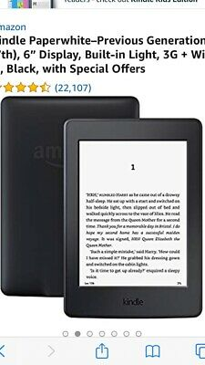Amazon Kindle Paperwh ite 3G, Wi-Fi, 6in - Black