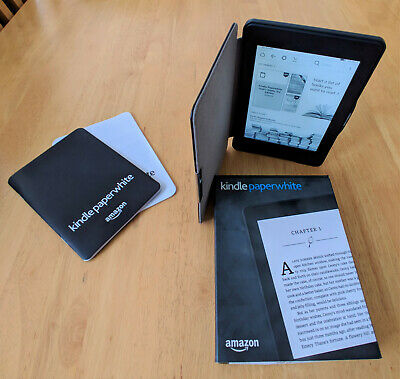Amazon KindlePaperwh ite 4GB, Wi-Fi, 6in - with case.