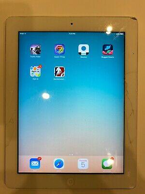 Apple iPad 2 16GB, 9.7in - White (Screen Damage)