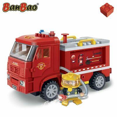 BanBao Fire Engine Car Children Building Bricks Toy