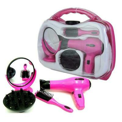 Battery Operated Hairstyler Set with Hairdryer and Mirror -