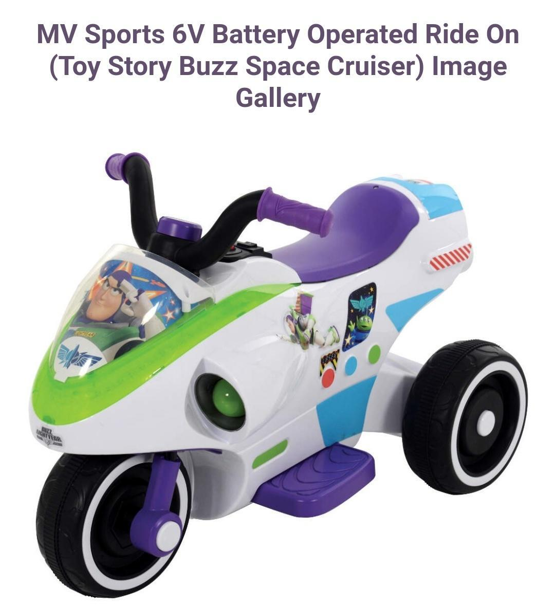 Buzz lightyear ride on electric 6 volt ready to gooo