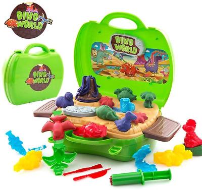 Deardeer Kids Play Dough Dinosaur Set 26 Pcs Pretend Toy Kit