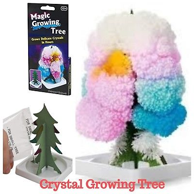 Kids Magic Growing Crystal Tree Kit Decoration Science Toy