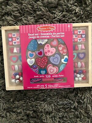 Melissa & Doug Sweet Hearts Wooden Bead Set With 120+ Beads