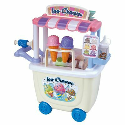 Playgo 28 Piece Gourmet Ice Cream Cart Children Pretend Play