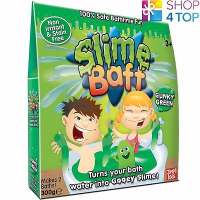 SLIME BAFF GUNKY GREEN 2 BATH PACK SLIMY GOO GELLI JELLY