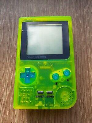Nintendo Game Boy pocket glow in the dark yellow console