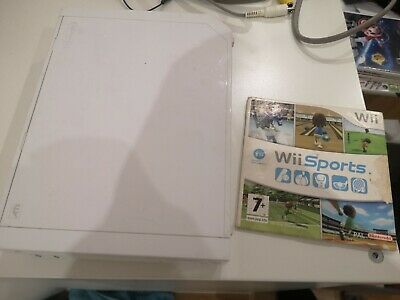 Nintendo Wii, 512MB White Console. Includes Wii sports,