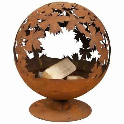 Esschert Design Fire Pit Laser Cut Leaves Rust Decorative