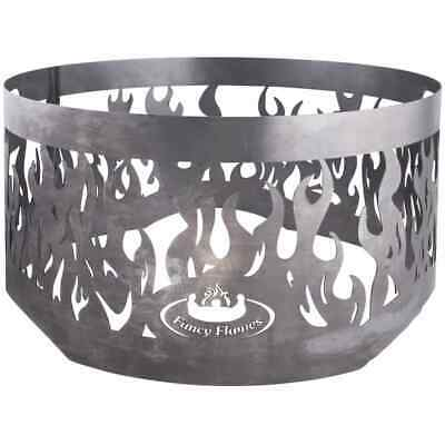 Esschert Design Fire Ring for Fire Bowl Grey Steel Safety