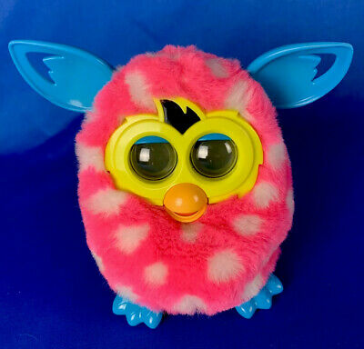 FURBY Boom  ANIMATED EYES Pink White INTERACTIVE Talking