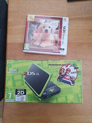 **Nintendo 2DS XL** Black & Lime Green Mario Kart 7 Edition