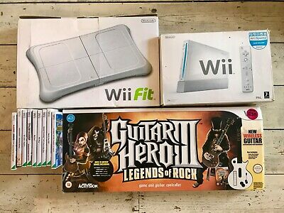 Nintendo Wii 512MB White Console (PAL) + Guitar Hero III +