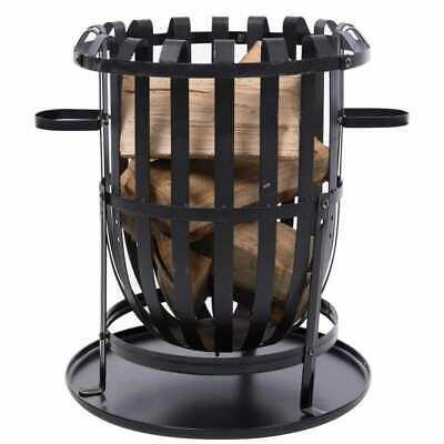 RedFire Fire Basket Dallas Black Steel Portable Fireplace