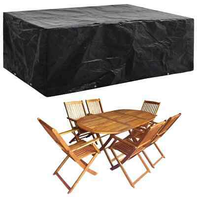 vidaXL Garden Furniture Cover 8 Eyelets 242x162x100cm Table