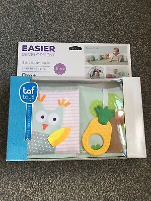 Bnib Taf Toys 3 in 1 Baby Development Book Kids Tummy Time