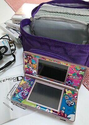 Nintendo DS Lite Metallic Rose Handheld System With Games