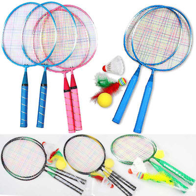 1 Pair Youth Children Kids Badminton Rackets Sports Cartoon