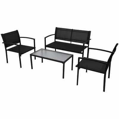 Four Piece Outdoor Patio Garden Furniture Set Coffee Table