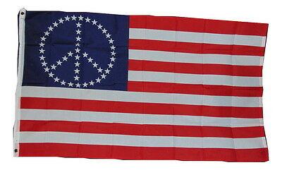 Star Peace Stars And Strips Flag 3x5 3 X 5 Feet New