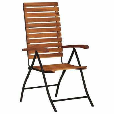 vidaXL 2x Solid Acacia Wood Reclining Garden Chairs Outdoor