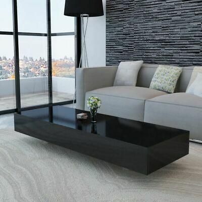 vidaXL Coffee Table High Gloss Black 115x55x31cm Modern