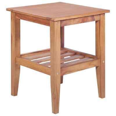 vidaXL Solid Teak Coffee Table Square Indoor Outdoor