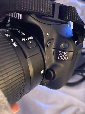 Canon EOS 100D 18.0MP Digital SLR Camera - Black (Kit w/