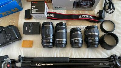 Canon EOS 7D 18.0 MP Digital SLR Camera plus lenses,tri,bag