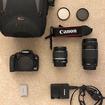 Canon EOS D 10.1MP Digital SLR Camera - Black 2 Lenses