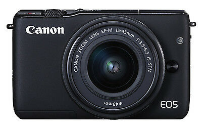 Canon EOS M10 DSLR Camera with mm IS STM Lens - Black
