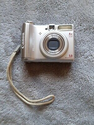 Canon PowerShot AMP Digital Camera - Silver Works