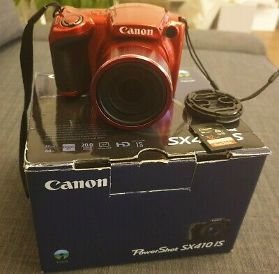 Canon PowerShot SX410 IS 20.0MP Digital Camera - Red+