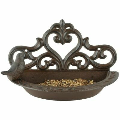 Esschert Design Bird Feeder Brown Cast Iron Bath Bowls Wall